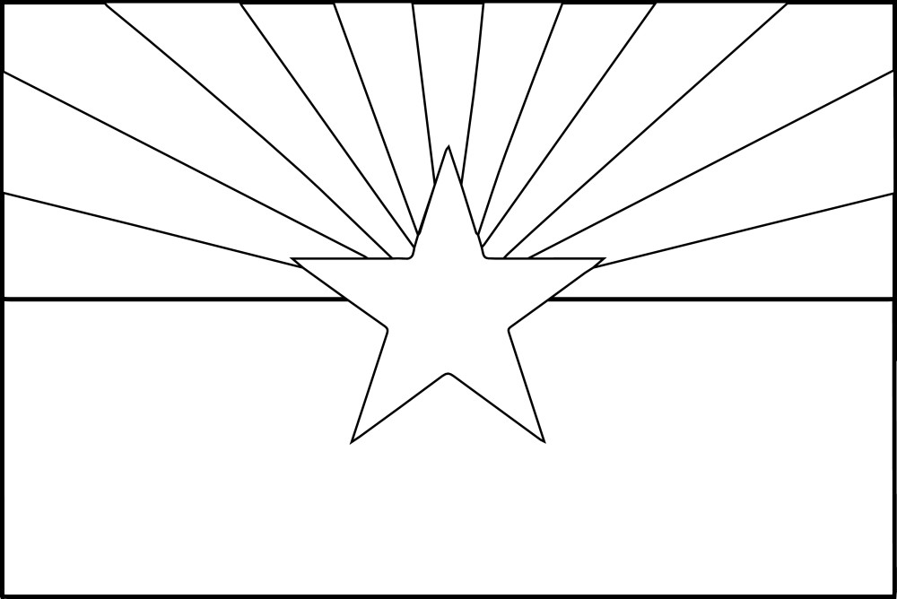 arizona state flag coloring page coloring pages