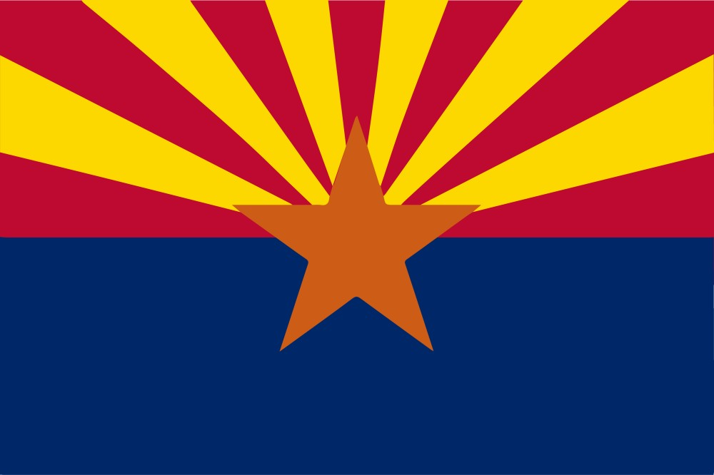 Free Printable Arizona State Flag Color Book Pages 8 X 11