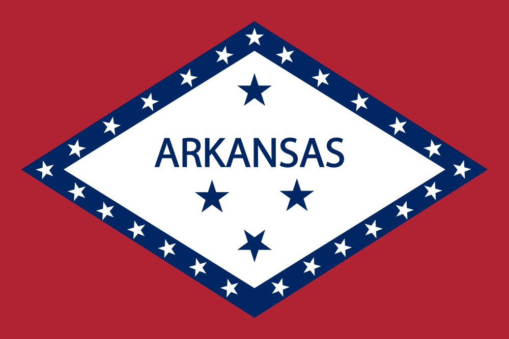 photo relating to Printable State Flags named Cost-free Printable Arkansas Country Flag coloration e-book internet pages 8½