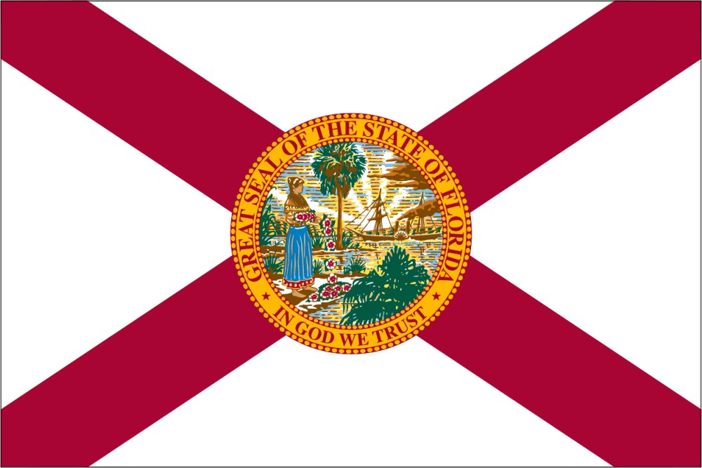 image about Free Printable Florida Will referred to as No cost Printable Florida Country Flag coloration reserve web pages 8½ x 11