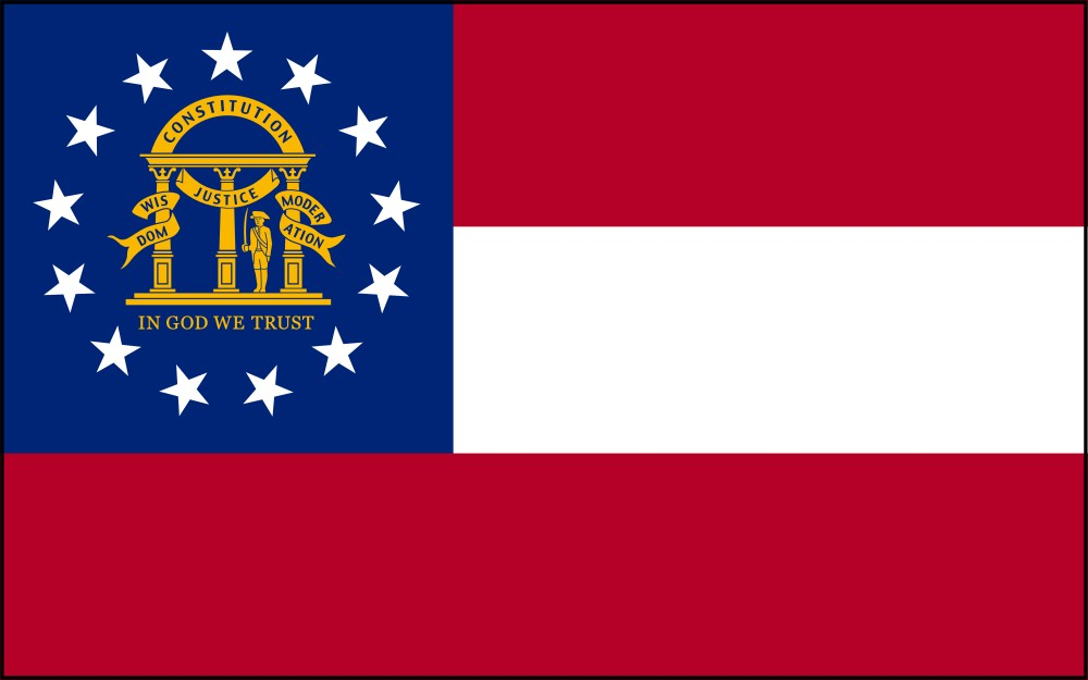 FREE Printable Georgia State Flag & color book pages | 8½ x 11