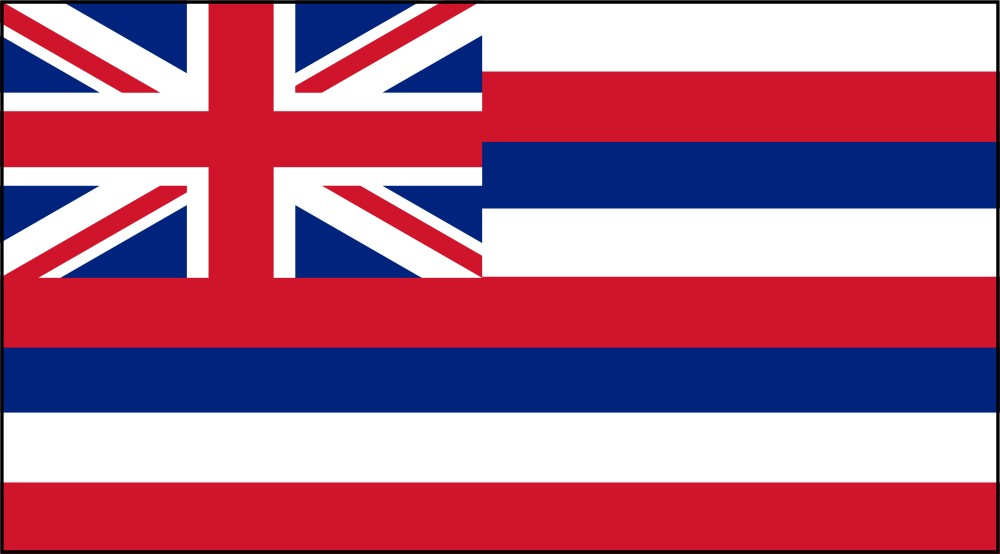 image relating to Printable Pictures of Hawaii named Free of charge Printable Hawaii Country Flag coloration ebook internet pages 8½ x 11