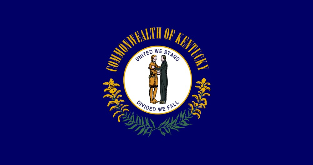 photo about Printable State Flags named Cost-free Printable Kentucky Nation Flag shade reserve internet pages 8½ x