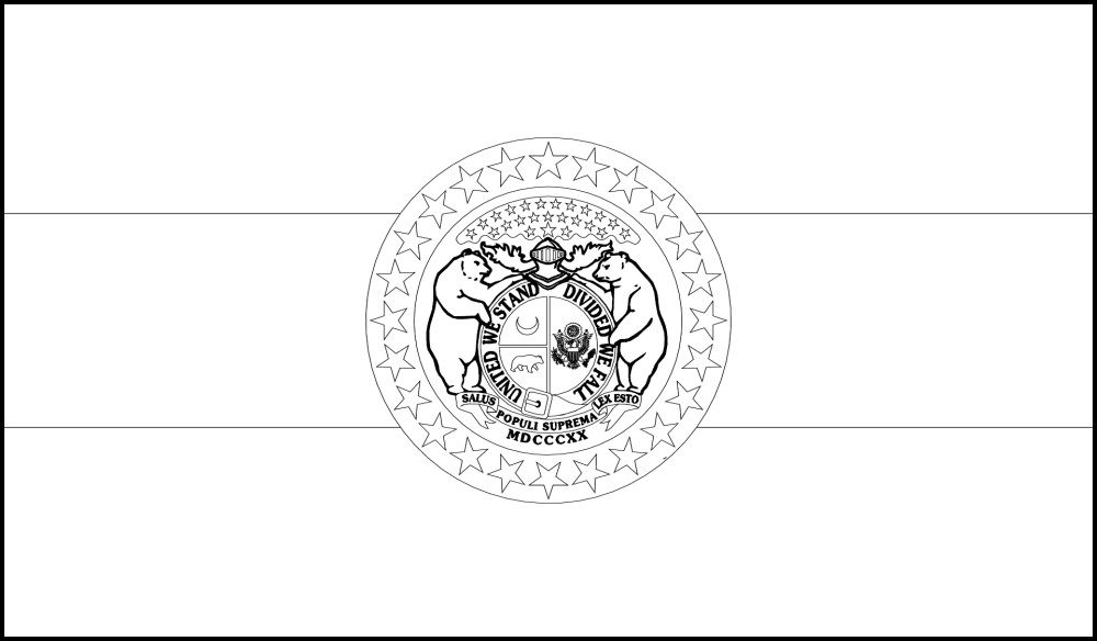 FREE Printable Missouri State Flag & color book pages   8½ x 11
