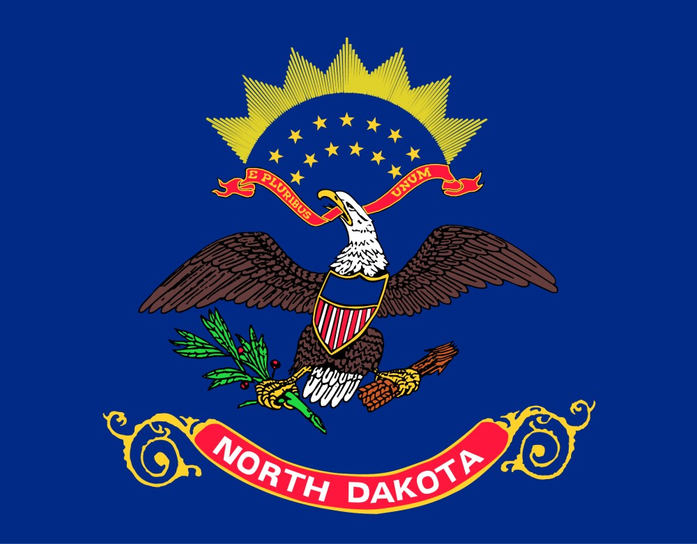 Free Printable North Dakota State Flag Amp Color Book Pages 8 189 X 11