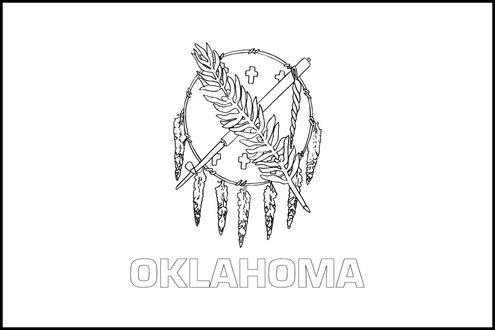 coloring pages oklahoma state flag - photo#6