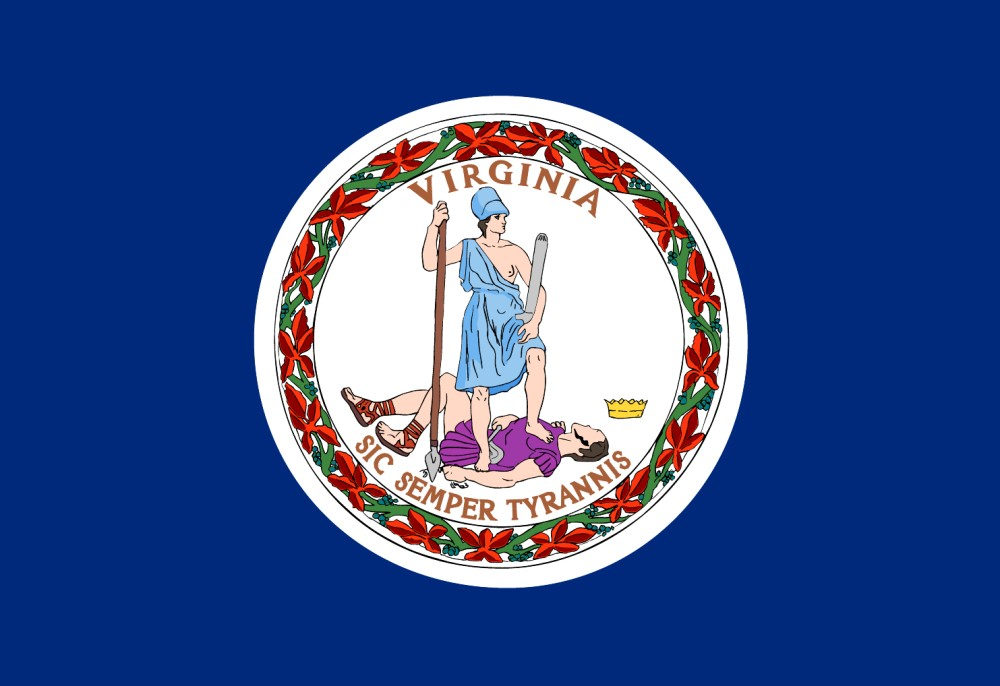 Free Printable Virginia State Flag Color Book Pages 8 X 11