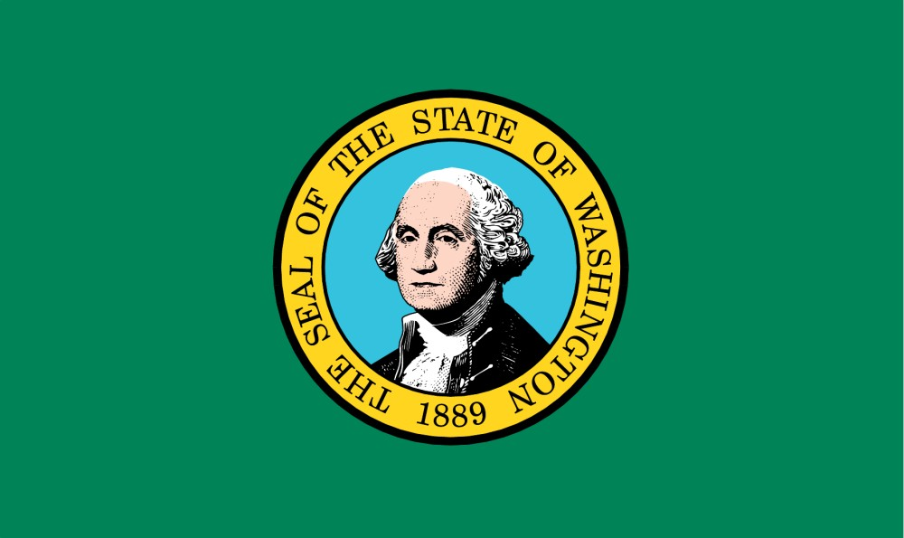 Free Printable Washington State Flag Amp Color Book Pages