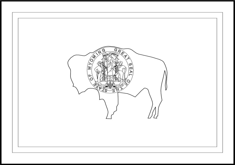 Free Printable Wyoming State Flag Amp Color Book Pages 8 189 X 11