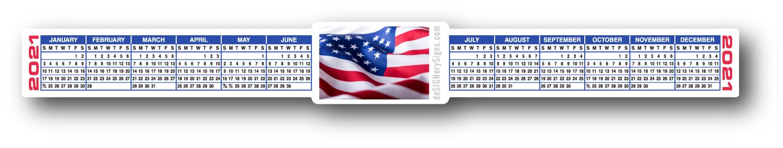 Keyboard Calendar Strips 2021 / See It Bigger Deskpad ...