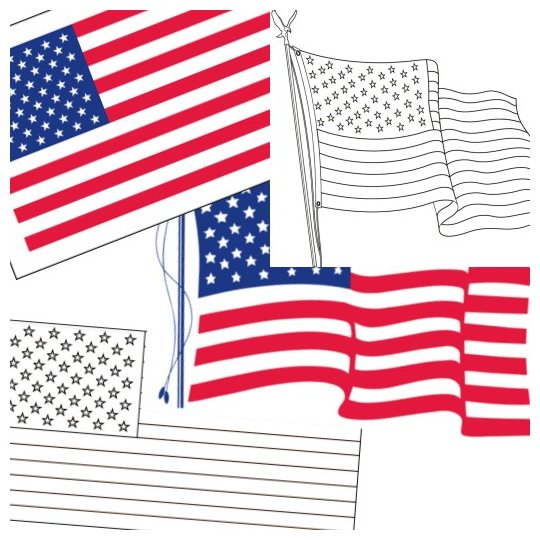 photo relating to Us Flag Printable called Absolutely free Printable US Flags American Flag shade e book web pages