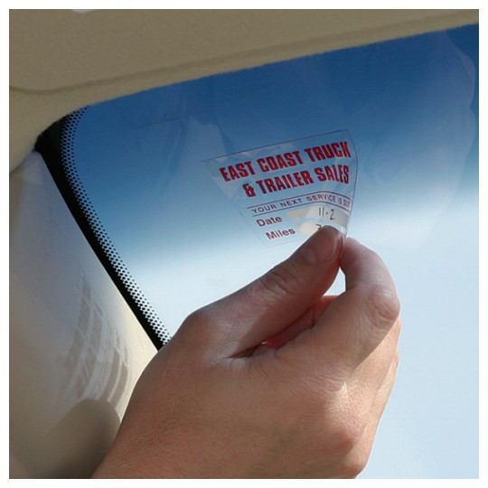 Image of our clear window clings service reminder