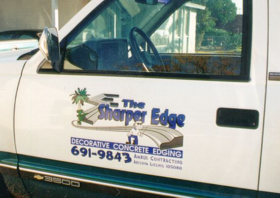 sample of truck door full color graphics