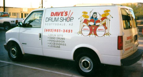 dave's drum shop van