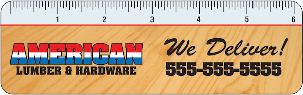 Images of our Custom Printed Rulers No. 1246