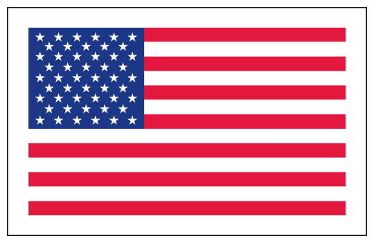 Image of our No. 215 White Vinyl US Flag