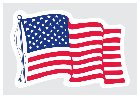 Image of our No. 218 Static Stick US Flag