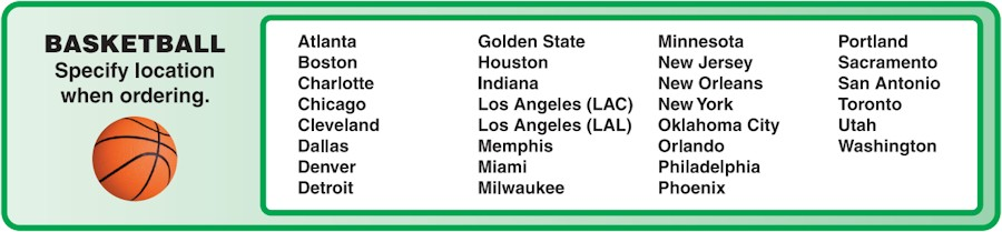 Image of our 2018-2019 NBA Team Schedule