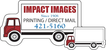 Images of our moving van Refrigerator Magnet No. 361