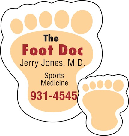Images of our foot print Refrigerator Magnet No. 363