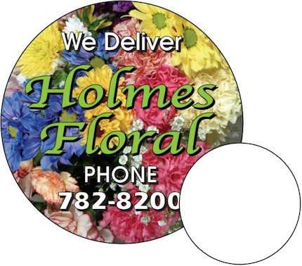 Images of our 2½ round Refrigerator Magnet No. 365
