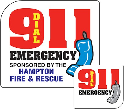 Images of our 9-1-1 emergency Refrigerator Magnet No. 423