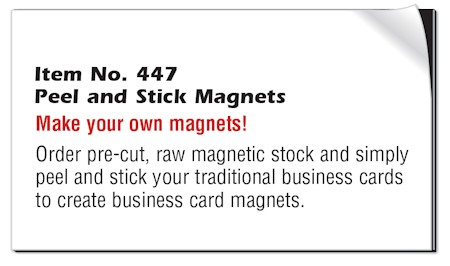 Images of our Magnetic Spot Color Business Cards No. 477