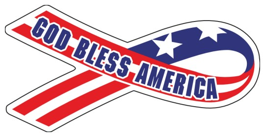 Image of God Bless America stickers by deSIGNery
