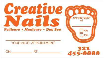 Appointment Reminder Card No. 5978 with foot shaped removable sticker