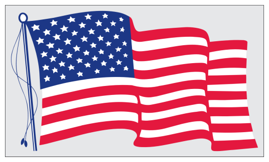 Image of our No. 676 Static Stick US Flag