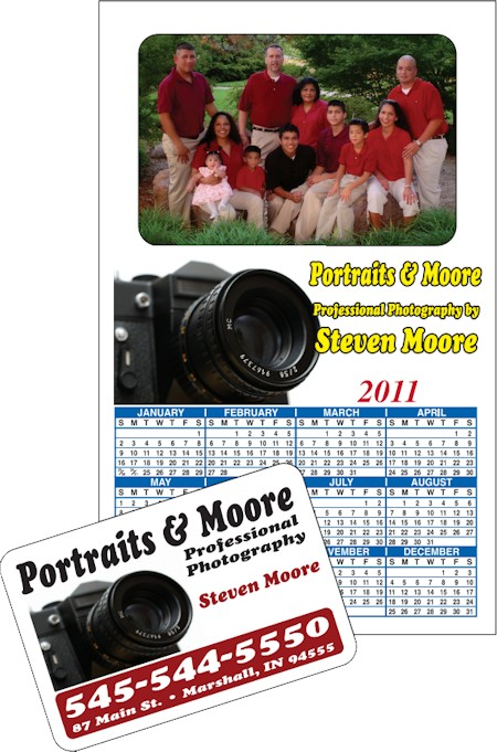 Images of our Picture Frame Magnets No. 967 2018 Calendar Magnet