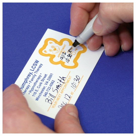 Business Cards With Reminder Stickers