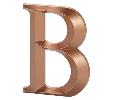 Gemini injection molded letters