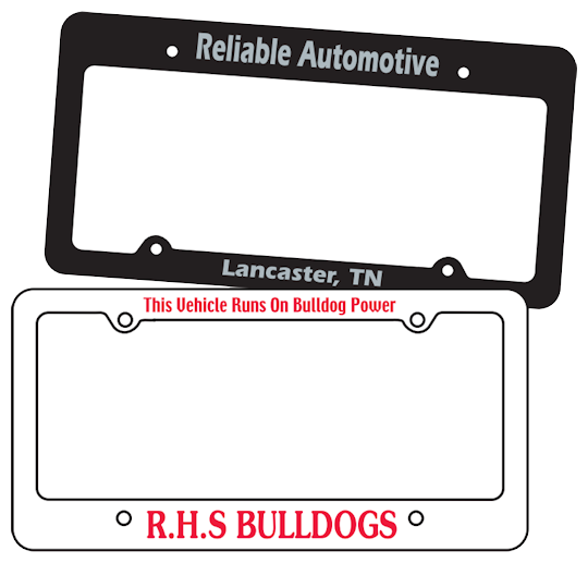 Image of Custom Printed License Plate Frames by deSIGNery