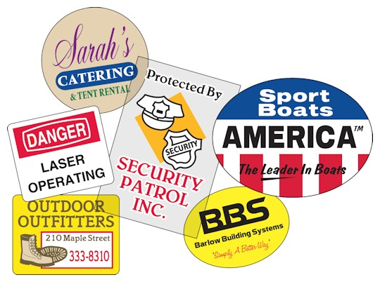 Images of our Outdoor Durable Roll Labels