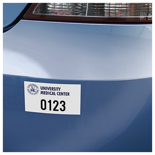 Image of White & Reflective Parking Permit Stickers by deSIGNery