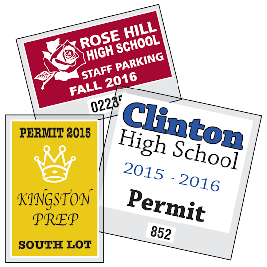 Image of Custom Parking Permit Stickers by deSIGNery