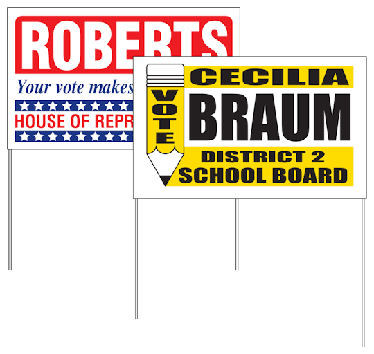 Images of our Polybag Yard Signs