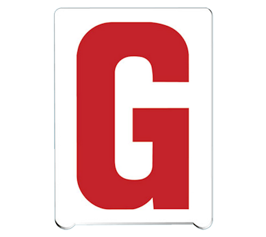Pronto™ changeable copy numbers & letters