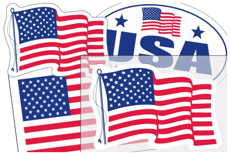 Image of US Flag Stickers by deSIGNery