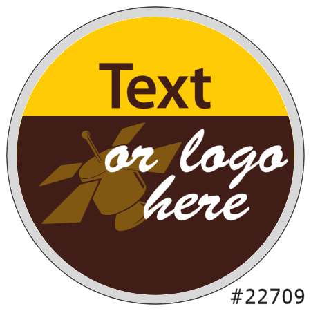 Image of our Number 22709 Round non-adhesive sticker on Clear Static (BACK)