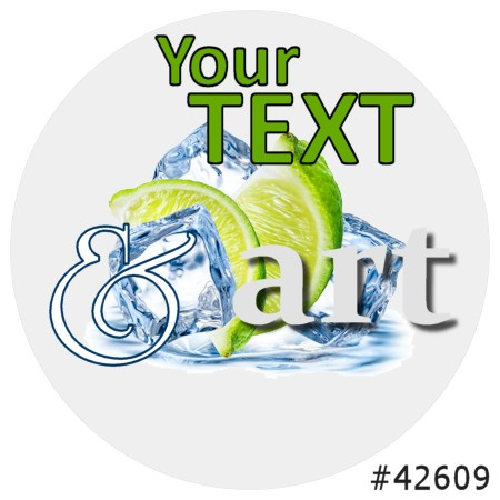 Image of our Number 42609 Round non-adhesive sticker on Clear Static (BACK)