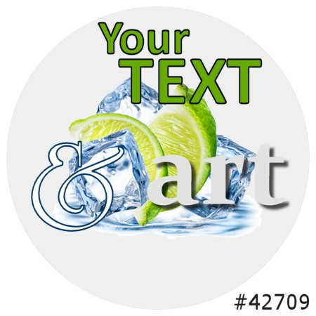 Image of our Number 42709 Round non-adhesive sticker on Clear Static (BACK)